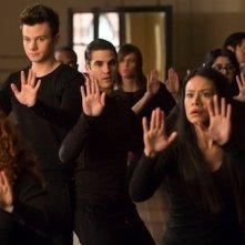 Glee: Chris Colfer e Darren Criss in una scena dell'episodio New New York