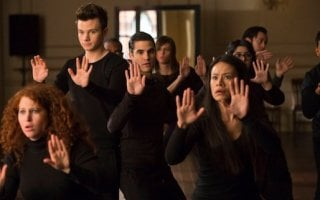 Glee: Chris Colfer e Darren Criss in una scena dell'episodio New New York