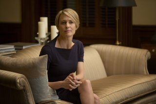 House of Cards: Robin Wright è Claire Underwood in un episodio della serie