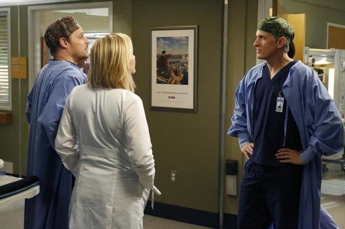 Grey S Anatomy Patrick Fabian E Justin Chambers Nell Episodio You Be Illin 347059