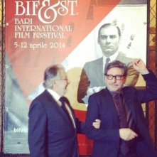 Sergio Castellitto al Bif&st 2014 in una foto promozionale con il direttore Felice Laudadio