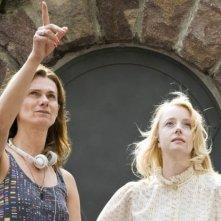 Controra: Fiona Glascott sul set del film con la regista Rossella De Venuto