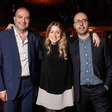 Hany Abu-Assad con i direttori del Middle East Now 2014 Lisa Chiari e Roberto Ruta