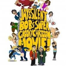 Jay and Silent Bob\'s Super Groovy Cartoon Movie: la locandina del film
