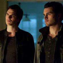 The Vampire Diaries: Ian Somerhalder, Michael Malarkey nell'episodio Resident Evil
