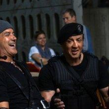 I mercenari 3 - The Expendables: Antonio Banderas e Sylvester Stallone ridono sul set