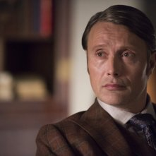 Hannibal: Mads Mikkelsen durante una scena dell'episodio Su-zakana