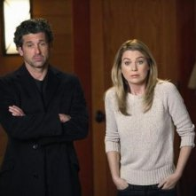 Grey's Anatomy: Ellen Pompeo e Patrick Dempsey in una scena dell'episodio Change of Heart, della decima stagione