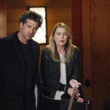 Grey's Anatomy: Ellen Pompeo insieme a Patrick Dempsey nell'episodio Change of Heart, della decima stagione