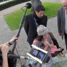 Goodbye to language: il regista Jean-Luc Godard in un'immagine dal set con Héloise Godet e Kamel Abdelli