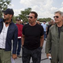 I mercenari 3 - The Expendables: Arnold Schwarzenegger e Harrison Ford sul set