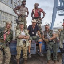 I mercenari 3 - The Expendables: foto di gruppo sul set