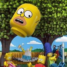I Simpson: un poster dell'episodio Brick Like Me a tema Lego