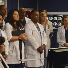 Grey's Anatomy: Ellen Pompeo, Sara Ramirez, Jerrika Hinton, Jesse Williams, James Pickens nell'episodio We Are Never Getting Back Together