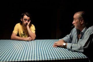 Sogni di gloria: Gabriele Pini in un'immagine del film con Alessandro Guariento