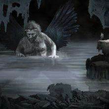 Il Mistero di Dante, regia di Louis Nero: Diego Casale interprete di Lucifero