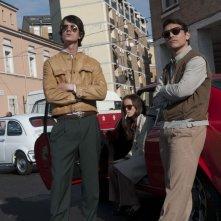 Bologna 2 Agosto... i giorni della collera: Lorenzo De Angelis, Roberto Calabrese e Tatiana Luter in una scena