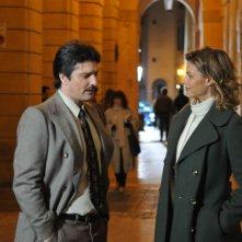 Bologna 2 Agosto... i giorni della collera: Martina Colombari in una scena del film con Lorenzo Flaherty