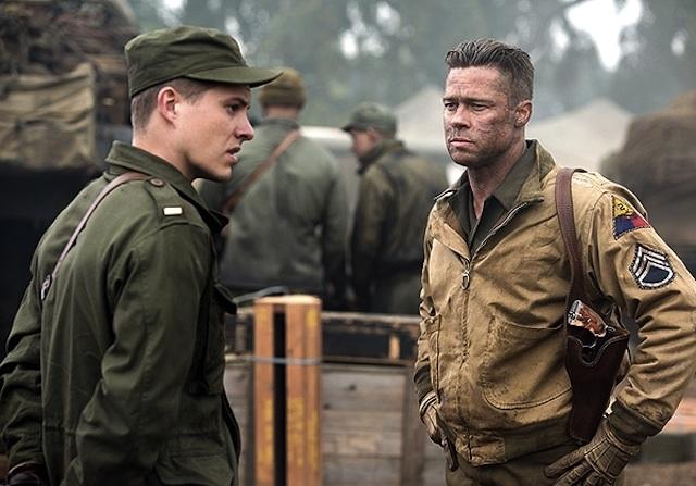 Fury: Brad Pitt a colloquio con un giovane soldato
