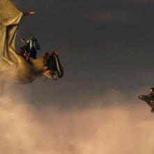 Dragon Trainer 2: duello in volo per Hiccup e il suo Sdentato