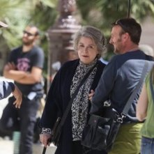 L'Homme qu'on aimait trop: Catherine Deneuve sul set del film con il regista André Téchiné