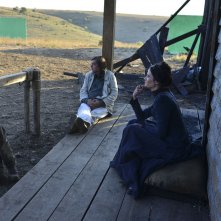 The Salvation: Mads Mikkelsen sul set con Eva Green e con il regista Kristian Levring