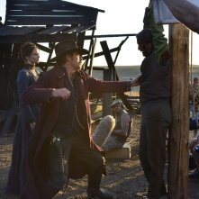 The Salvation: Mads Mikkelsen sul set con Eva Green e Jeffrey Dean Morgan
