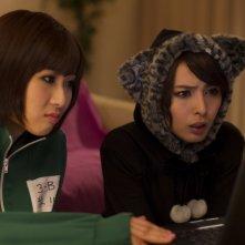 Musashino-sen No Shimai: Natsuki Kato e Sayaka Nakaya al computer