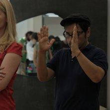 Xenia: il regista del film Panos H. Koutras sul set dirige gli attori