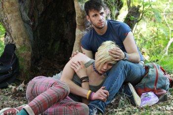 Xenia: Kostas Nikouli in un'immagine del film con Nikos Gelia