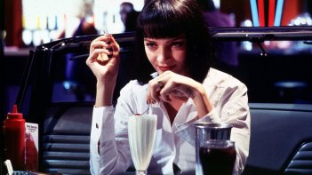 Uma Thurman in una scena di Pulp Fiction.