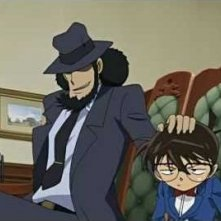 Lupin the 3rd vs Detective Conan: The Movie - Jigen mette una mano sulla testa di Conan