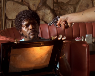 Samuel L. Jackson e la valigetta in Pulp Fiction