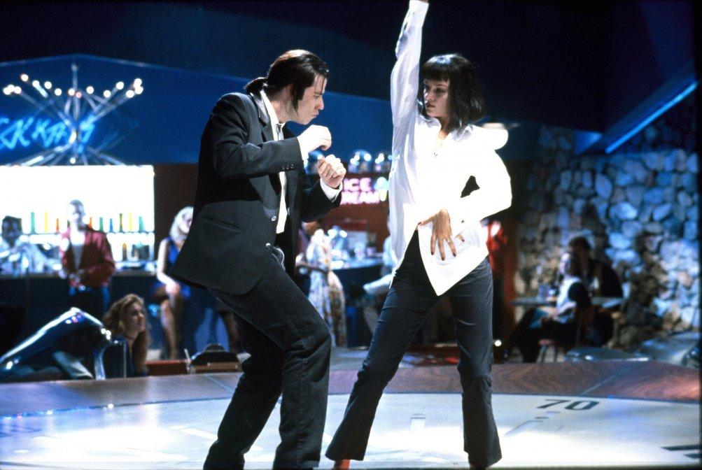 Uma Thurman con John Travolta in Pulp Fiction di Tarantino
