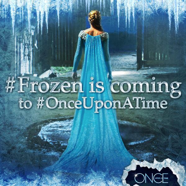 C'era una volta: l'immagine promozionale che annuncia il crossover con Frozen - Il regno di ghiaccio