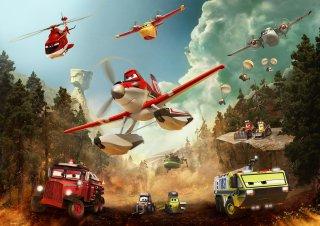 Planes 2 - Missione Antincendio: una simpatica e affollata scena del film