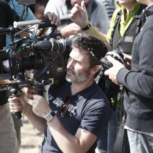 The search: il regista Michel Hazanavicius durante le riprese
