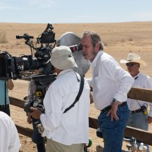 The Homesman: Tomme Lee Jones sul set