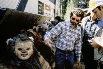 George Lucas sul set de Guerre stellari: Il ritorno dello Jedi