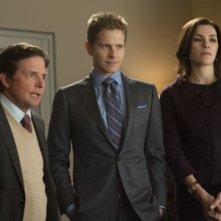 The Good Wife: Julinanna Margulies, Michael J. Fox e Matt Czuchry nell'episodio The Once Percent