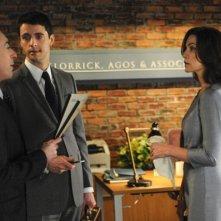 The Good Wife: Alan Cumming, Julianna Margulies e Matthew Goode nell'episodio The Once Percent