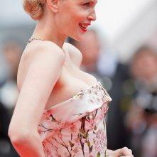 Nadja Auermann sul red carpet di Cannes 2014