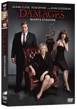 La cover del DVD di Damages - Stagione 4