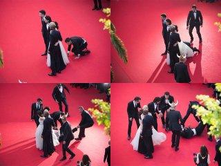 America Ferrera, uno scherzo sul red carpet di Cannes 2014