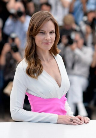 Cannes 2014: Hilary Swank durante il photocall per The Homesman