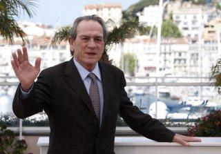 Cannes 2014: un immagine di Tommy Lee Jones durante il photocall di The Homesman