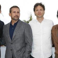 Foxcatcher: Channing Tatum, Steve Carell, Bennett Miller e Mark Ruffalo posano durante il photocall di Cannes 2014