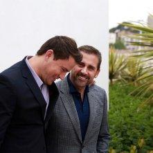 Foxcatcher: Channing Tatum e Steve Carell ridono durante il photocall di Cannes 2014