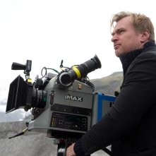Interstellar: Christopher Nolan sul set al fianco di una cinepresa IMAX