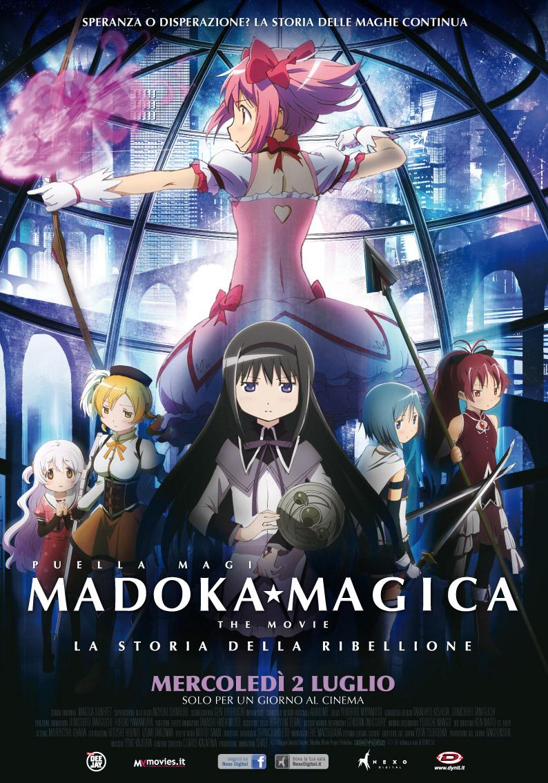 Madoka Magica - The Movie: La storia della ribellione, la locandina dell'evento cinematografico